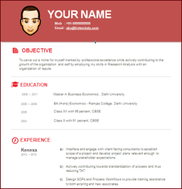 resume standard format 2014 download resume 2014 new resume