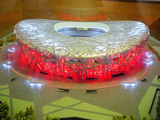 A model of Beijing's Olympic stadium (the Bird's Nest) at the Olympics Museum in Lausanne, Switzerland