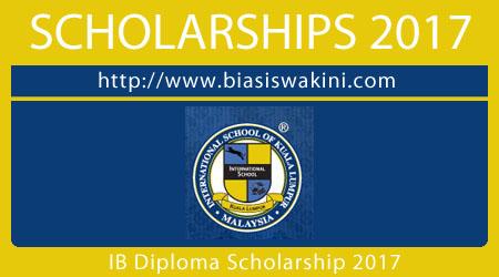 International Baccaulaureate Diploma Scholarship 2017