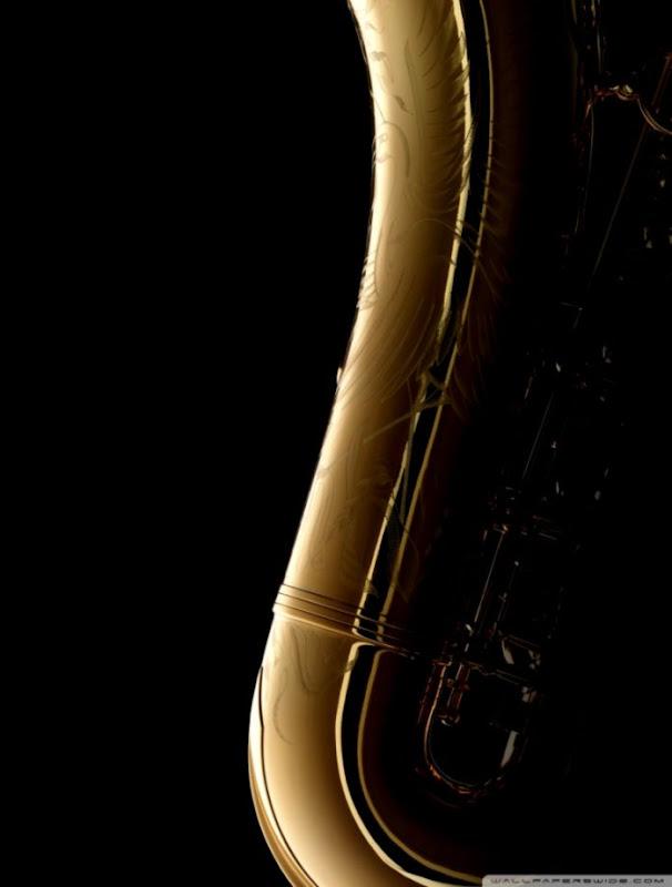 Saxophone On Black Background ❤ 4K HD Desktop Wallpaper for