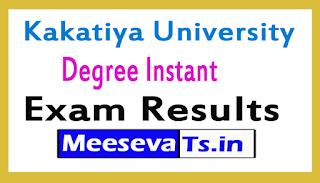 Kakatiya University Degree Instant Exam Results