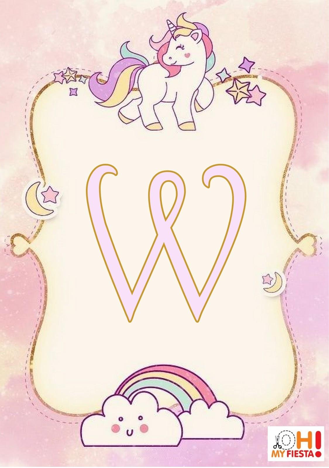 Alfabeto Unicornio My Little Pony Oh My Alfabetos