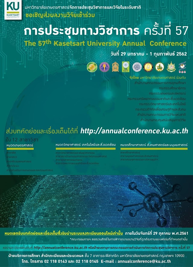 The 57th Kasetsart University Annual Conference