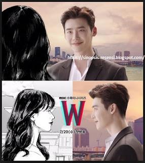 Sinopsis Drama Korea W Webtoon, Lee Jong Suk, W, Webtoon, Korea