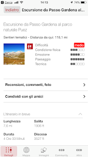 Alta Badia app map and overview for Hike 1.