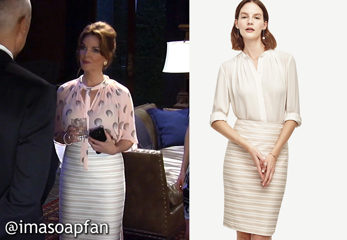 Naomi Dreyfus's Striped Pencil Skirt - General Hospital