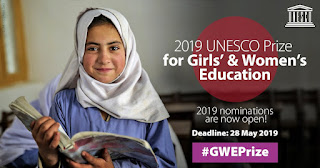 UNESCO Prize for Girls' & Women's Education 2019 | $50,000 Awards