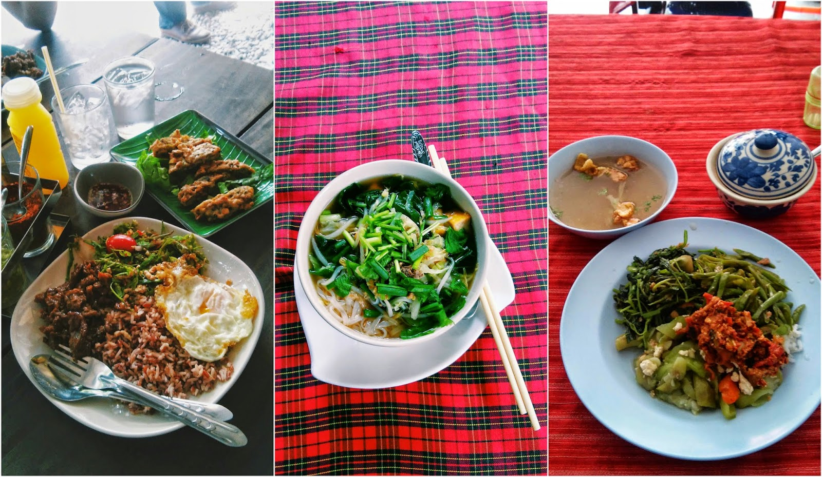 Vegetarian food at Jay shops in Chiang Mai