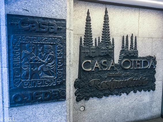 Restaurante Casa Ojeda. Burgos