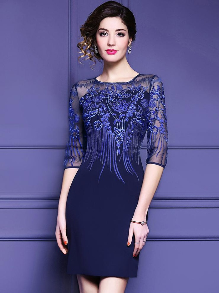 https://www.dresssure.com/products/party-pure-color-embroidery-stitching-o-neck-half-sleeve-bodycon-dress