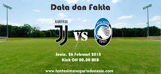 Data dan Fakta Liga Fantasia Serie A Gio 26 Juventus vs Atalanta Fantasi Manager Indonesia
