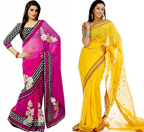 gambar model baju sari india