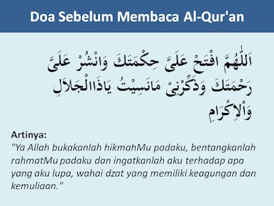 Doa sebelum membaca Al-Quran