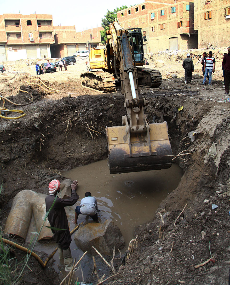 3000-Year-Old Pharaoh Ramses II Statue Discovered In Cairo Slum