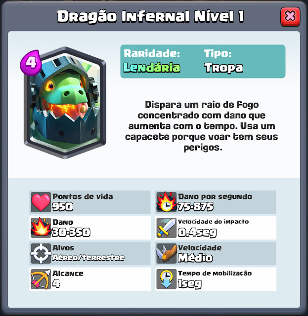 Dragão Infernal Clash Royale