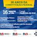 """Ciclo de palestras debaterá """"30 anos da Constituição Federal"""" nesta quinta-feira"""