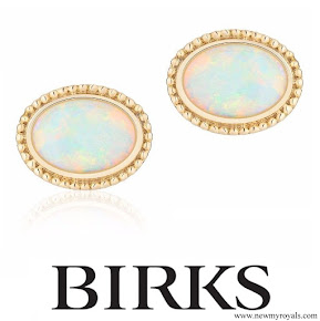 Meghan Markle Jewel - Birks Yellow Gold and Opal Earrings