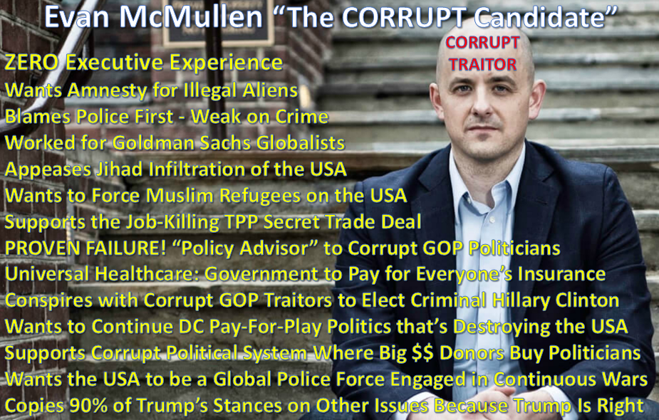 Evan McMullin the Romney Ryan Corrupt Establishment GOP Stooge Used to Elect Criminal Felon Hillary Clinton