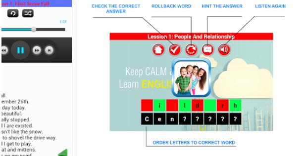 تطبيق English Words Conversation تعليم التكلم بالانجليزي للأطفال و المبتدئين للأندرويد