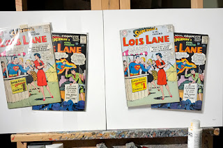 lois lane superman silver age comic book books trompe loeil realism painting paintings