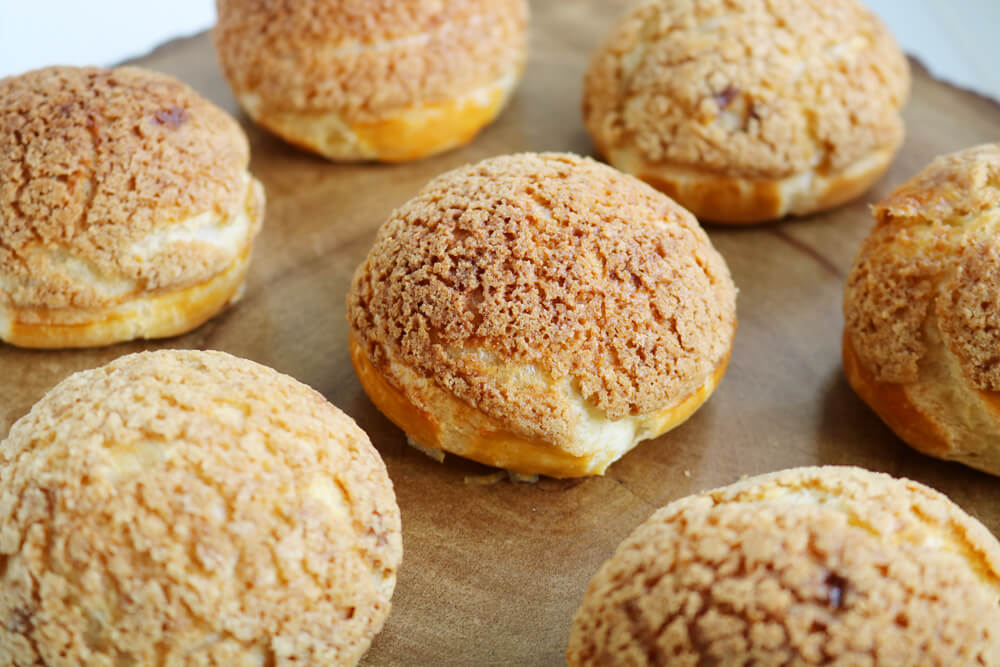 Biscoff Craquelin Choux Buns | Bake Off Bake Along | Hungry Little Bear
