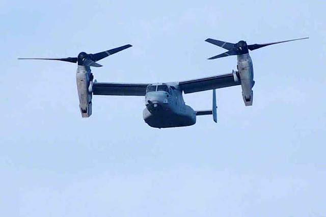 Aircraft named Osprey in flight