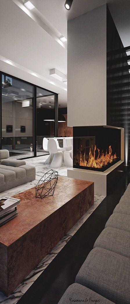 23 Modern Fireplace Ideas
