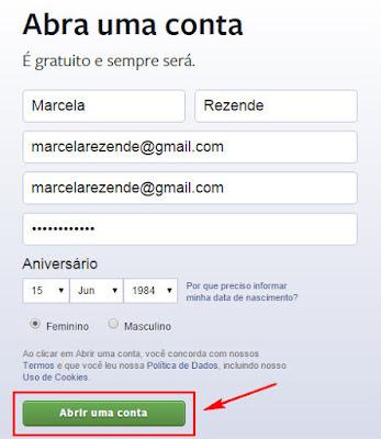 Como criar uma conta do Facebook