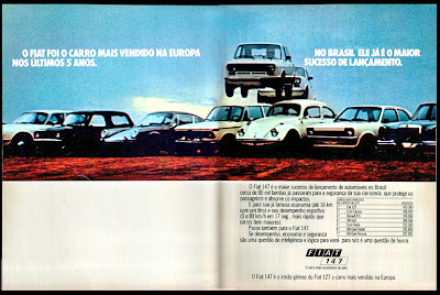 propaganda Fiat 147 - 1978.  brazilian advertising cars in the 70s; os anos 70; história da década de 70; Brazil in the 70s; propaganda carros anos 70; Oswaldo Hernandez;