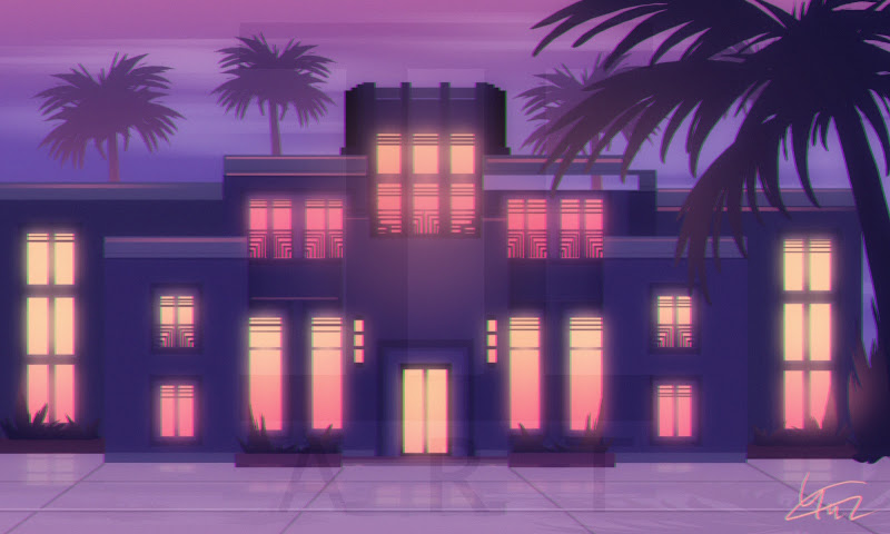 Art Deco at Night