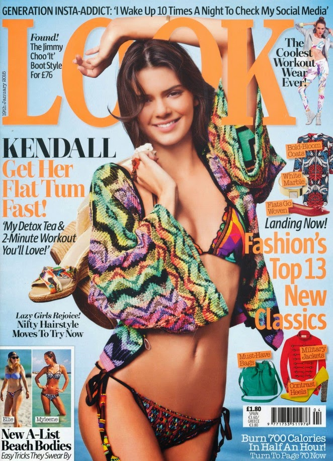 Kendall Jenner reveals flat tummy workout routine for Look Magazine January 2015