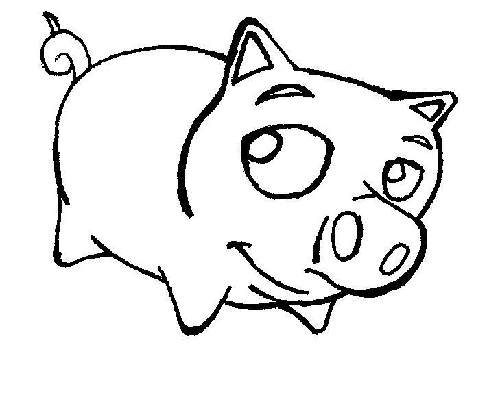 Desenho Porco Para Imprimir E Pintar, Desenho Animal