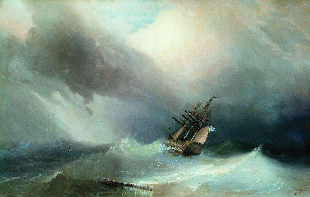 06-Storm-1851-Ivan-K-Aivazovsky-Иван-К-Айвазовский-Paintings-of-the-Sea-from-1840-to-1900-www-designstack-co