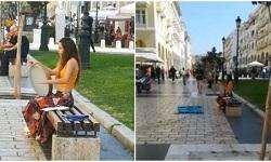 Θεσσαλονίκη: Συνέλαβαν μουσικό του δρόμου για 'επαιτεία' - Οργή Ζερβουδάκη (βιντεο)