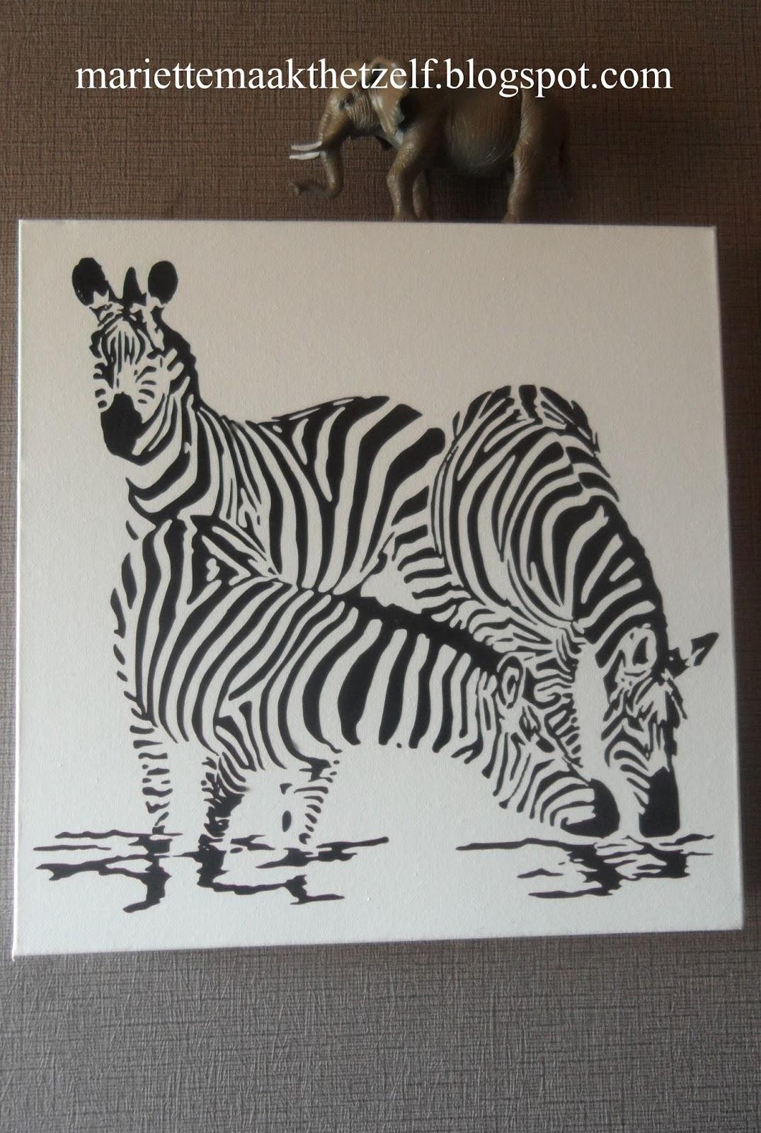 Mariette maakt het zelf deco voor de safari kamer - Deco voor de kamer van de jongen ...