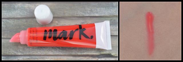 Avon mark glossy tube lip gloss apple red und Swatch