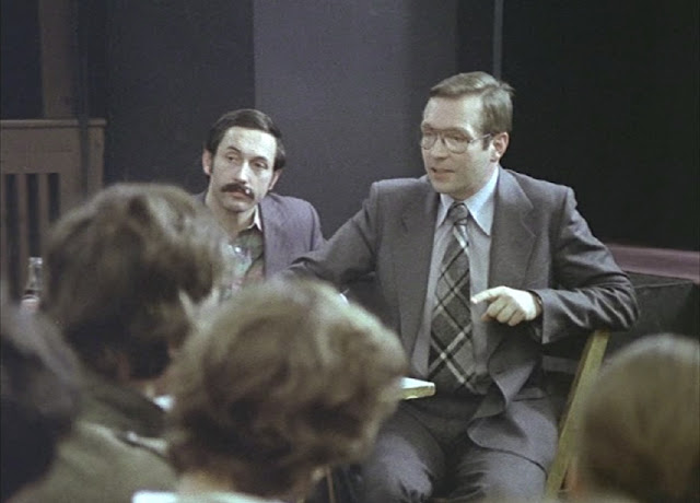 Prominent Polish film-maker Krzysztof Zanussi briefly appears as himself who encourages Filip to continue his film-making endeavor. Filip is seen attending the screening of Polish classic Camouflage
