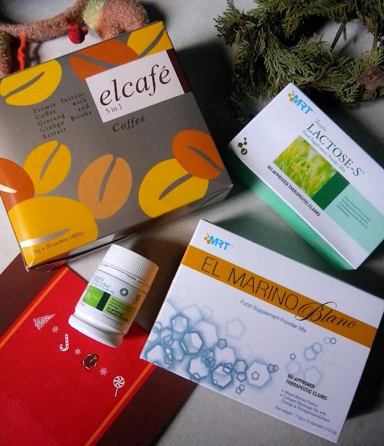 Elken line up of products- Spirulina, elcafe, El Marino Blanc, Fujita lactose-S.