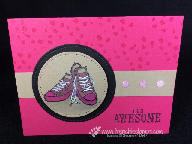 Epic Celebration, Robber Sole Technique, Frenchie Stamps, Stampin'Up!