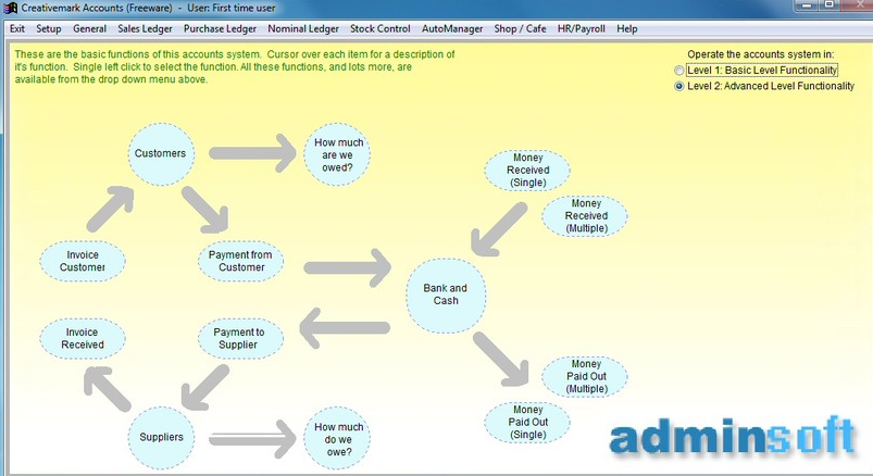 Adminsoft Free Accouting Software