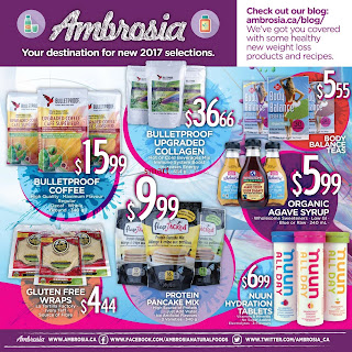Ambrosia Natural Foods Flyer January 1 – 31, 2017
