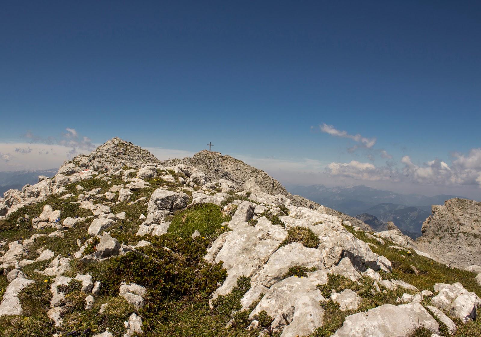 Zweitätige Wanderung im Gesäuse von Gsatterboden zum Buchsteinhaus und weiter über den Südwandband Klettersteig auf den Großen Buchstein - Gipfelbereich