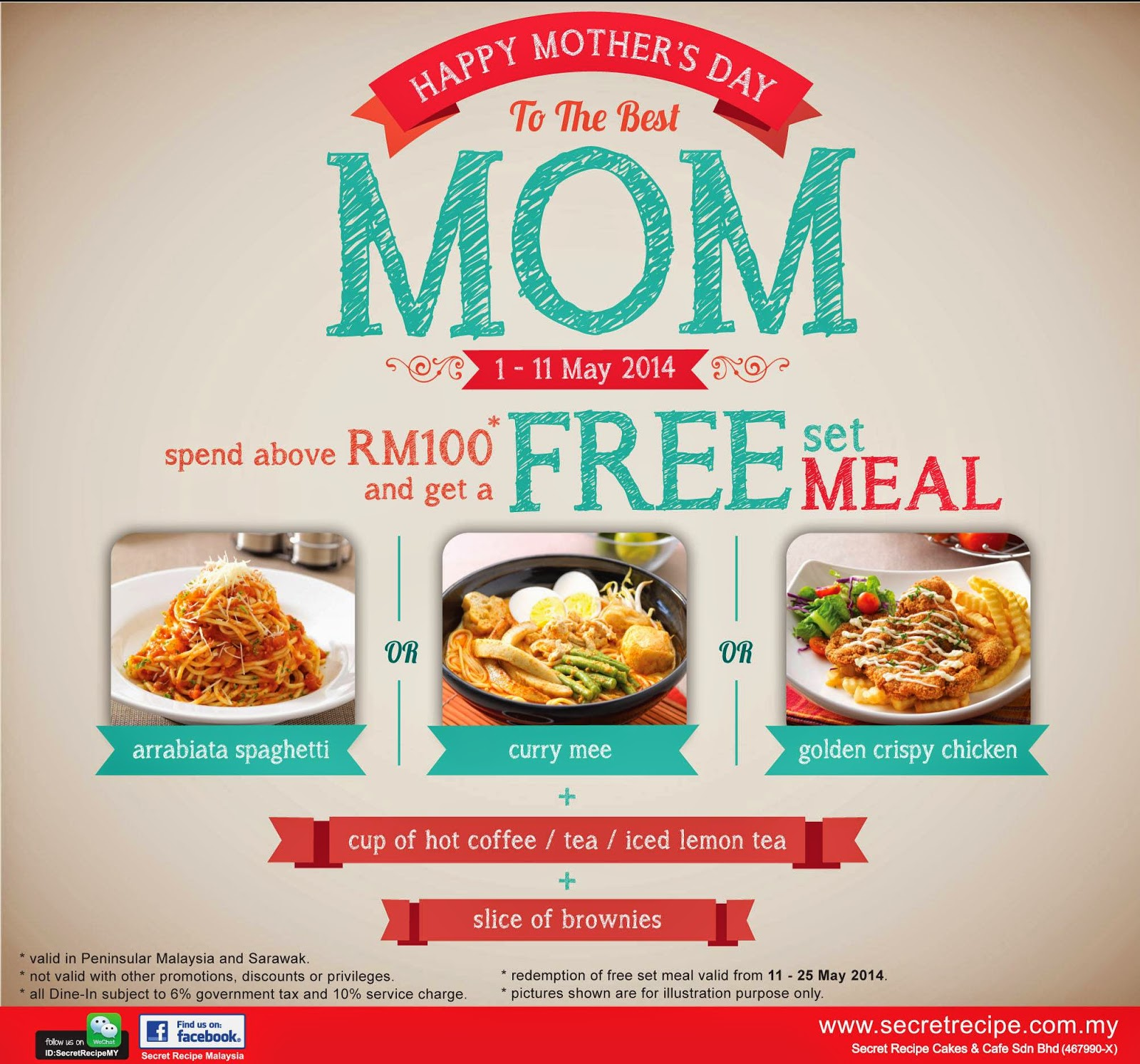 9ba06f093ed1  PROMOTION   Secret recipe Mother s Day Free Meal Set !
