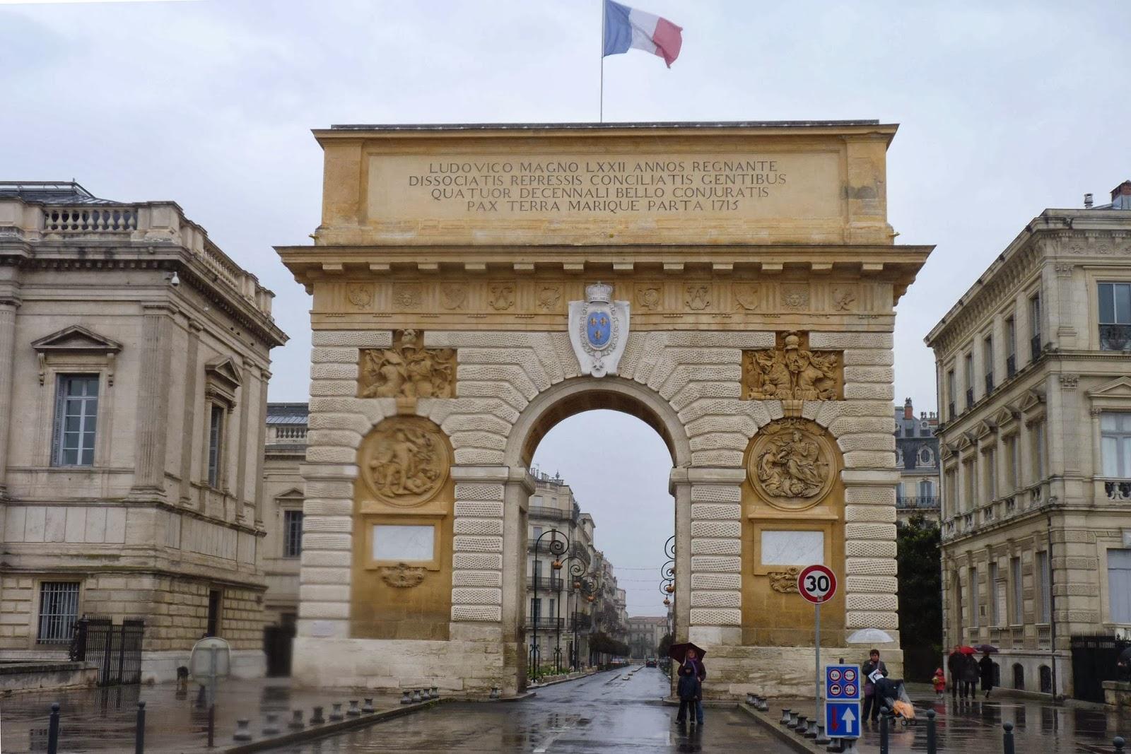 Arco de Triunfo de Montpellier.