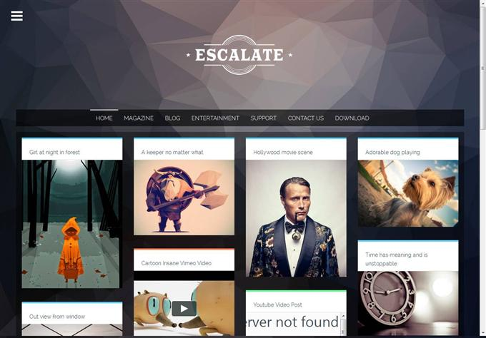 Escalate Responsive Gallery Blogger Template