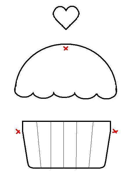 Artesanato e Cia : Moldes de Cupcakes (riscos) postagem