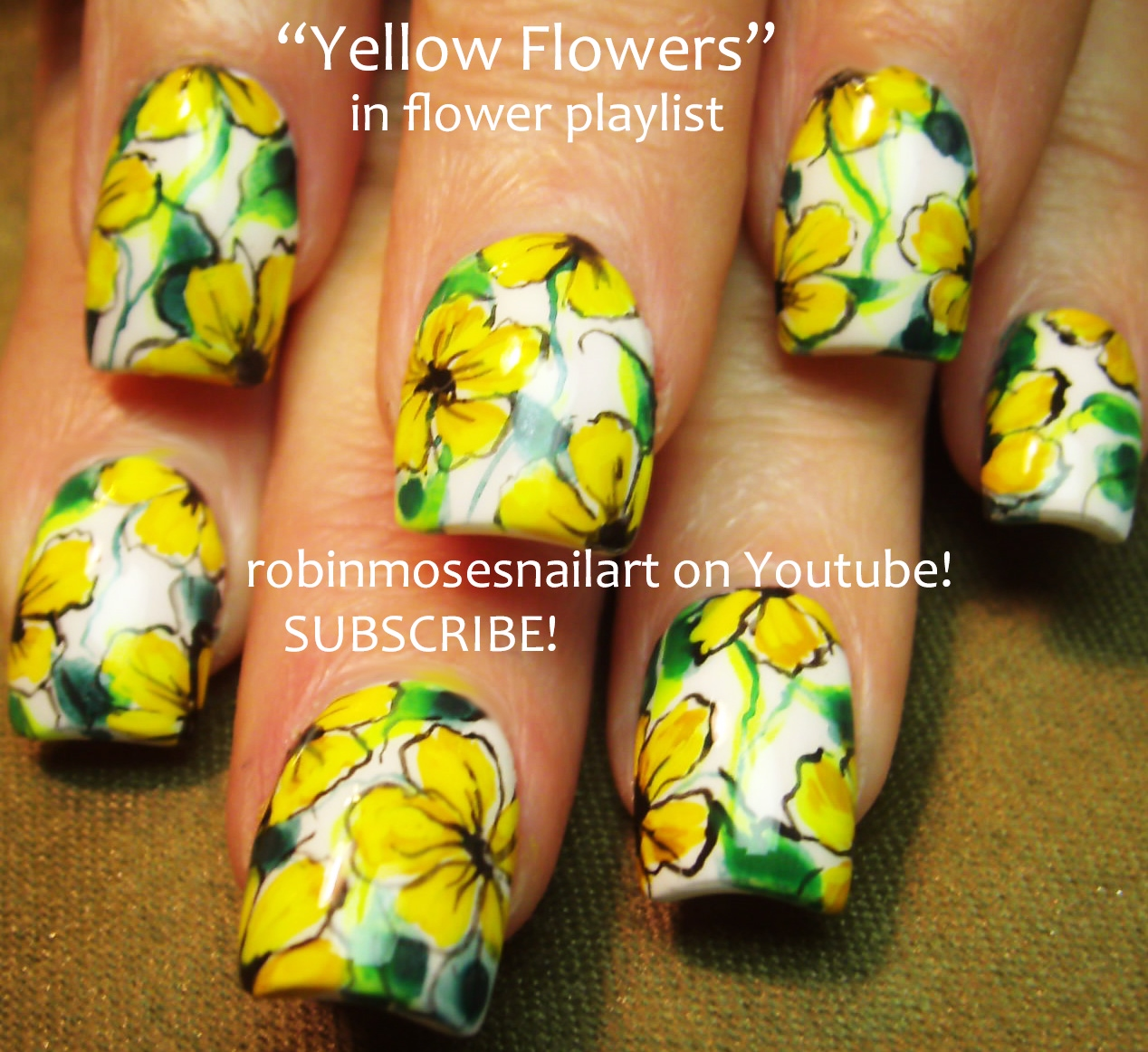 Nail Art by Robin Moses: Bright Yellow Nail Art, Robin Moses Polish ...