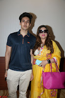 Govinda with wife Sunita Ahuja and Son Yashvardan Ahuja at Screening Of her new movie Aa a Hero 17.JPG