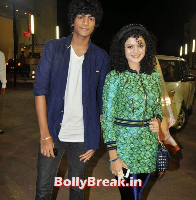 Palak Muchhal with brother Palash Muchhal, Life OK Now Awards 2014 Red Carpet Pics