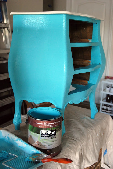 Picture Cheap Antique Nightstand Revamp